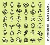 tree and leaf icon vector set... | Shutterstock .eps vector #1335112250