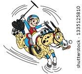 cartoon equestrian polo sport . ... | Shutterstock .eps vector #1335125810