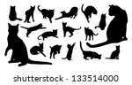 cat silhouettes | Shutterstock .eps vector #133514000