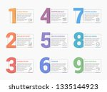 set of nine numbers with place...