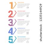 five numbers with arrows and... | Shutterstock .eps vector #1335144929