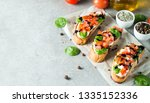 tomato and cheese fresh made... | Shutterstock . vector #1335152336