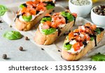 tomato and cheese fresh made... | Shutterstock . vector #1335152396