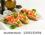 tomato and cheese fresh made... | Shutterstock . vector #1335152456