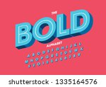 vector of stylized modern font... | Shutterstock .eps vector #1335164576