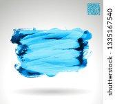 blue brush stroke and texture.... | Shutterstock .eps vector #1335167540