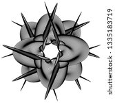 abstract black and white... | Shutterstock .eps vector #1335183719