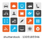 auto service and car part icons ... | Shutterstock .eps vector #1335185546