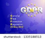 gdpr   general data protection... | Shutterstock .eps vector #1335188513