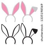 easter bunny  rabbit  ears mask | Shutterstock .eps vector #1335198569
