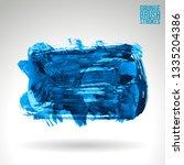 blue brush stroke and texture....   Shutterstock .eps vector #1335204386