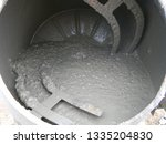 concrete mixer with pouring... | Shutterstock . vector #1335204830