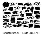 black dry brushstrokes hand...   Shutterstock .eps vector #1335208679