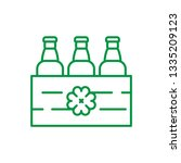 beer pack vector line icon