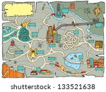 funny treasure map | Shutterstock .eps vector #133521638