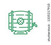 beer barrel vector line icon