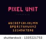 vector pixel latin alphabet...   Shutterstock .eps vector #1335221753