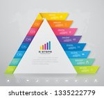 8 steps pyramid with free space ... | Shutterstock .eps vector #1335222779