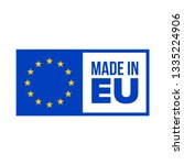made in eu quality certificate... | Shutterstock .eps vector #1335224906