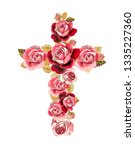 christian cross made of... | Shutterstock . vector #1335227360