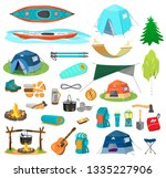 bid vector set of hiking... | Shutterstock .eps vector #1335227906