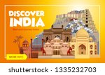 india travel banner. trip to... | Shutterstock .eps vector #1335232703