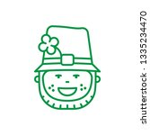 irish man face vector line icon