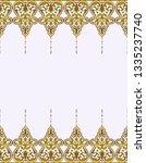 vintage vector border. golden... | Shutterstock .eps vector #1335237740