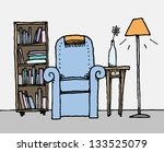 colorful living room   daily... | Shutterstock .eps vector #133525079