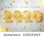 2020 happy new year. gold... | Shutterstock .eps vector #1335251819