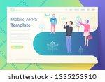 vector mobile apps template... | Shutterstock .eps vector #1335253910
