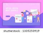 landing page vector... | Shutterstock .eps vector #1335253919