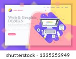 web graphics design theme... | Shutterstock .eps vector #1335253949
