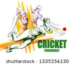concept of sportsman playing... | Shutterstock .eps vector #1335256130