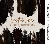 vector dark watercolor brush... | Shutterstock .eps vector #1335257819