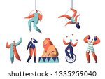 welcome circus show with clown... | Shutterstock .eps vector #1335259040