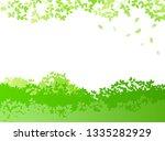 fresh green and sun leaves... | Shutterstock .eps vector #1335282929