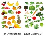 set of clip arts fruits and... | Shutterstock .eps vector #1335288989