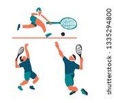 vector illustration of a player ... | Shutterstock .eps vector #1335294800