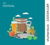 Beer Festival Vector Flat...