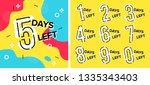 number days left countdown... | Shutterstock .eps vector #1335343403