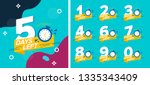 number days left countdown... | Shutterstock .eps vector #1335343409
