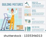 building materials  accessories ... | Shutterstock .eps vector #1335346013