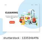 cleaning landing page template. ... | Shutterstock .eps vector #1335346496