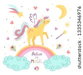 vector background with fantasy... | Shutterstock .eps vector #1335346976