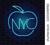 new york city neon sign. shiny...   Shutterstock .eps vector #1335348983