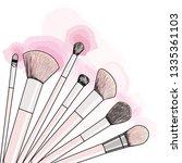 hand drawn set of makeup... | Shutterstock .eps vector #1335361103