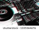 digital dj tun table on stage... | Shutterstock . vector #1335364676