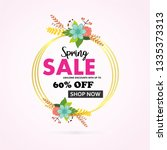 spring holiday sale vector... | Shutterstock .eps vector #1335373313