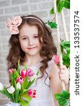 portrait of a beautiful girl... | Shutterstock . vector #133537574